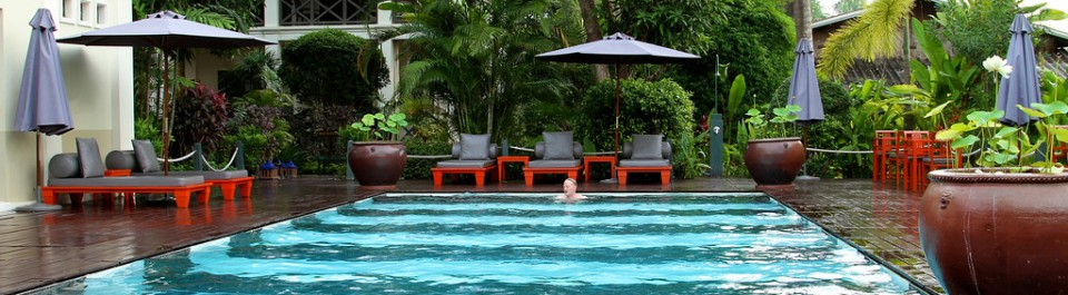 Pool at Vila Marly, Luang Prabang, Laos